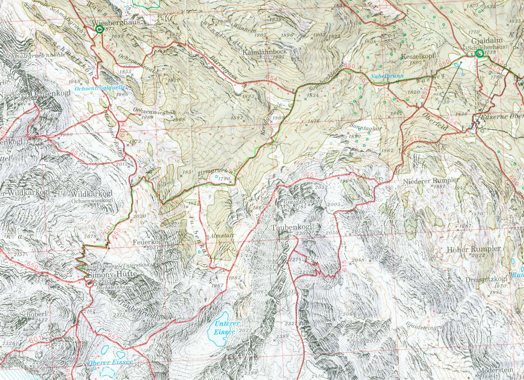 Dachstein Karte.Dachstein